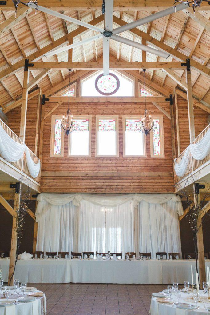 sugar grove barn wedding venue interior